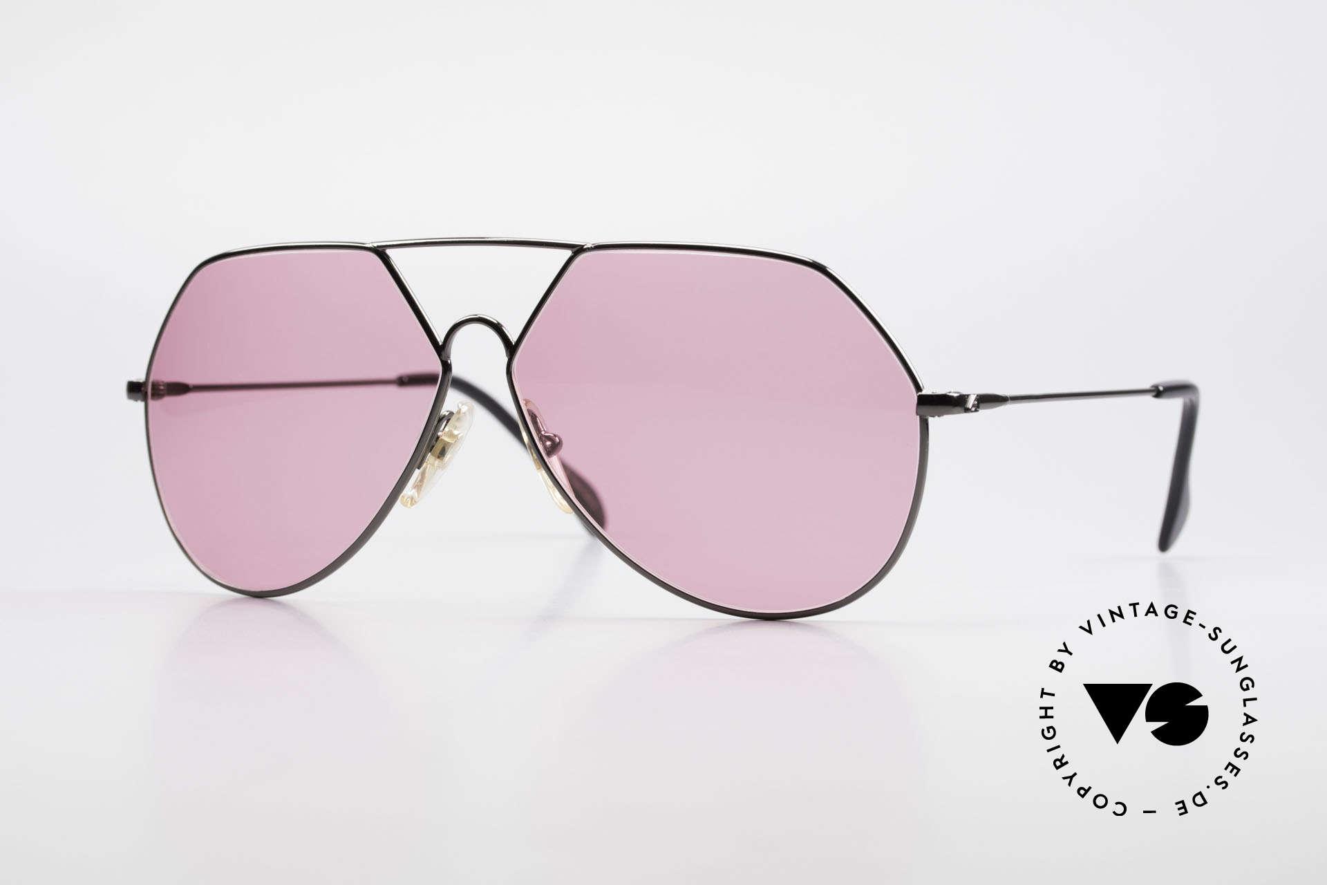 Alpina TR6 Alte 80er Aviator Brille Pink, sehr seltene alte ALPINA Sonnenbrille von 1986, Passend für Herren