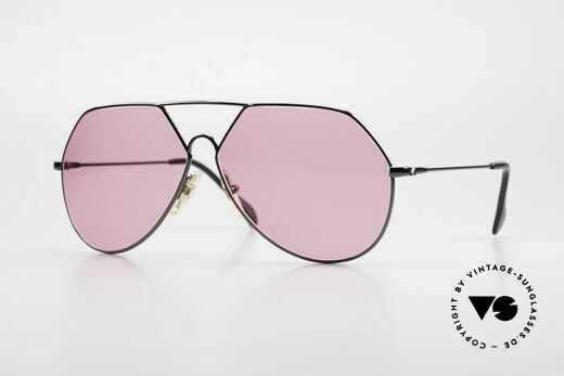 Alpina TR6 Alte 80er Aviator Brille Pink Details