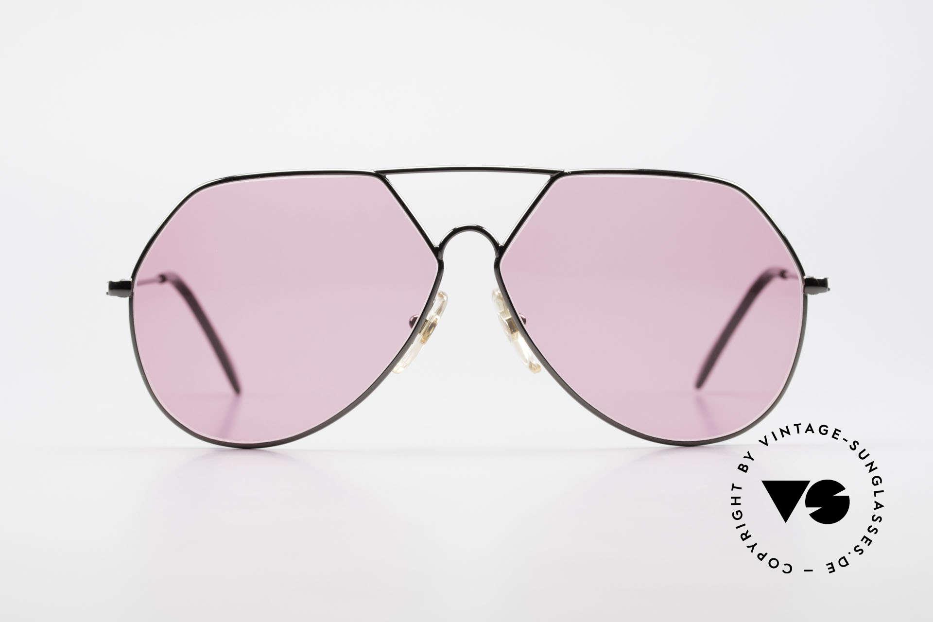 Alpina TR6 Alte 80er Aviator Brille Pink, mal eine etwas andere Aviator- oder Pilotenbrille, Passend für Herren