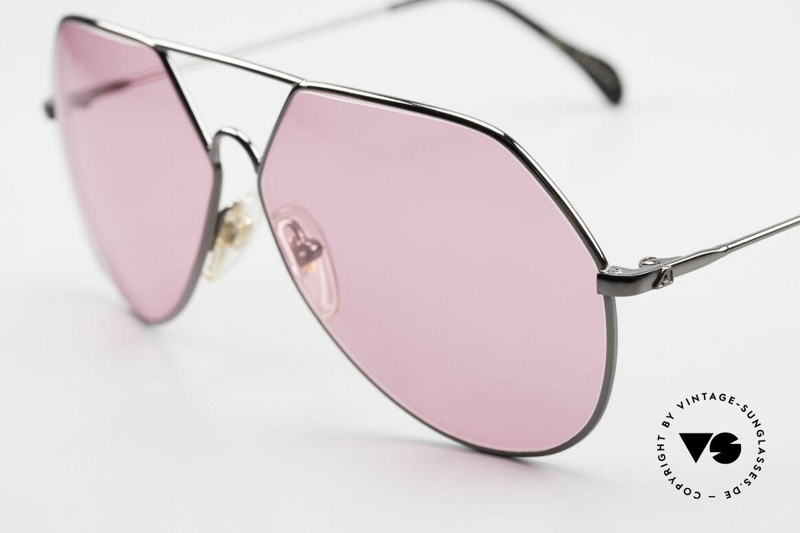Alpina TR6 Alte 80er Aviator Brille Pink, tolles Modeaccessoire und ein echtes 80er Unikat, Passend für Herren