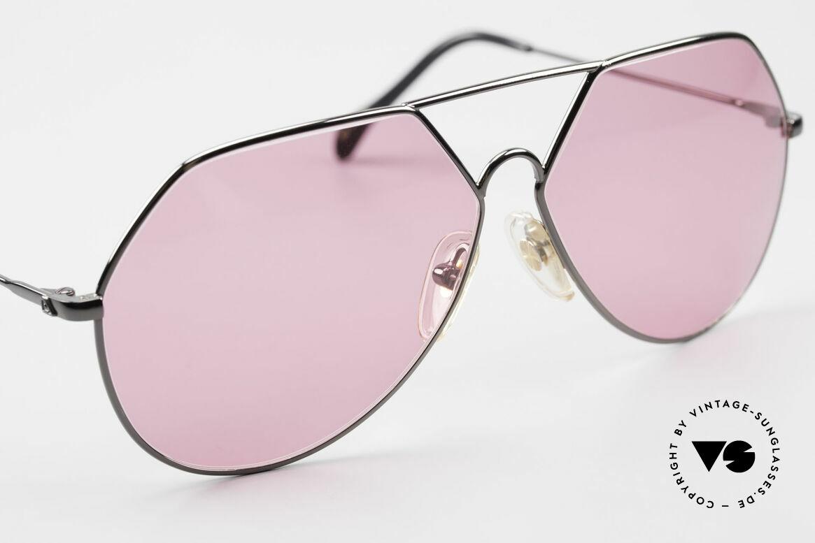Alpina TR6 Alte 80er Aviator Brille Pink, unbenutzt; wie alle unsere alten Brillen von Alpina, Passend für Herren