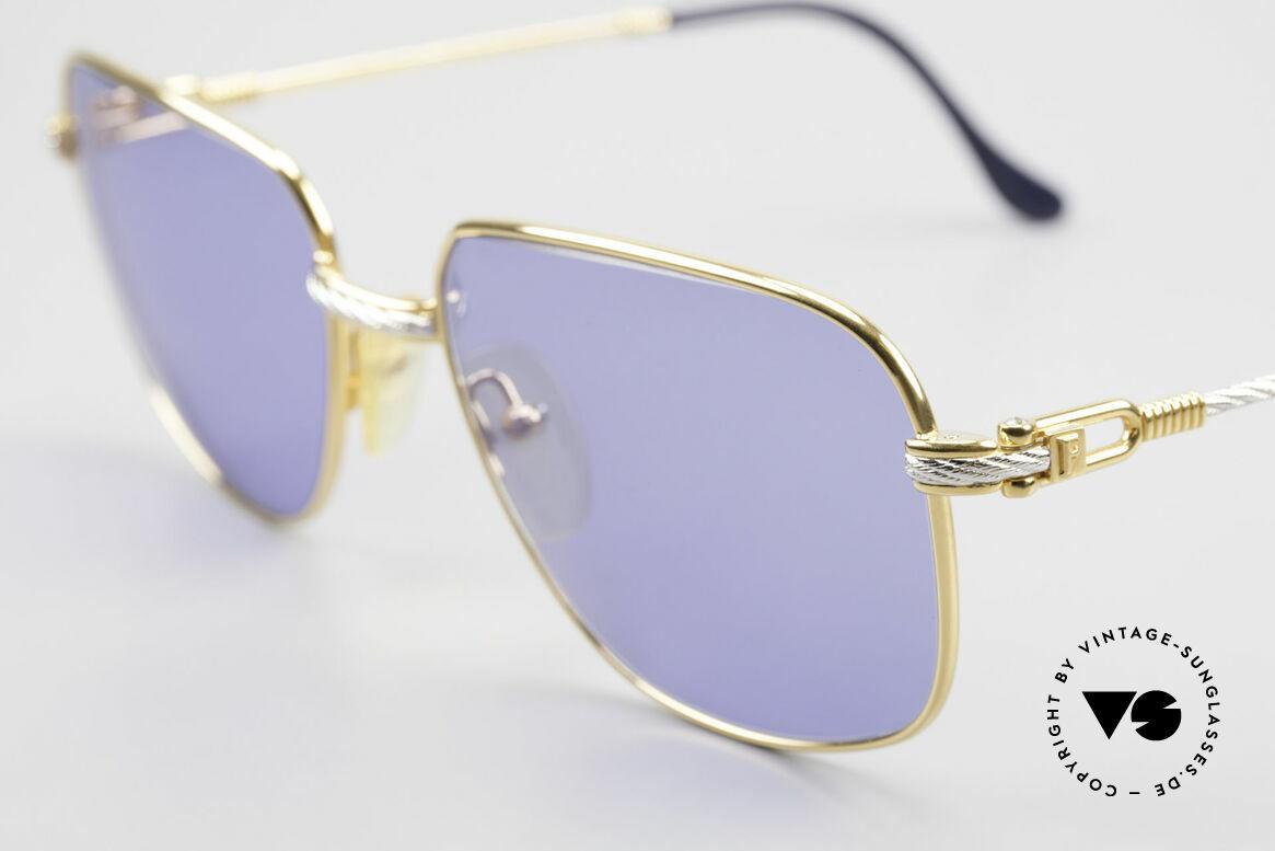 Fred Zephir Luxus Segler Sonnenbrille 80er, Bügel und Brücke sind gedreht wie ein Segeltau; Unikat, Passend für Herren