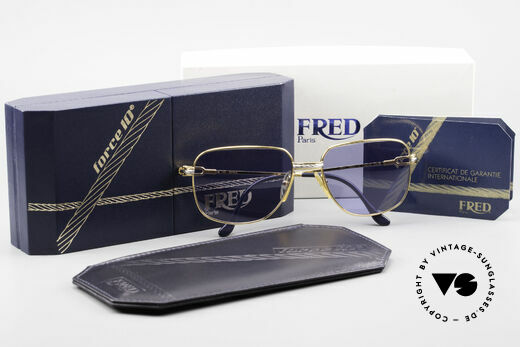 Fred Zephir Luxus Segler Sonnenbrille 80er, KEIN RETRO; sondern ein kostbares Original; Gr. 58-17, Passend für Herren