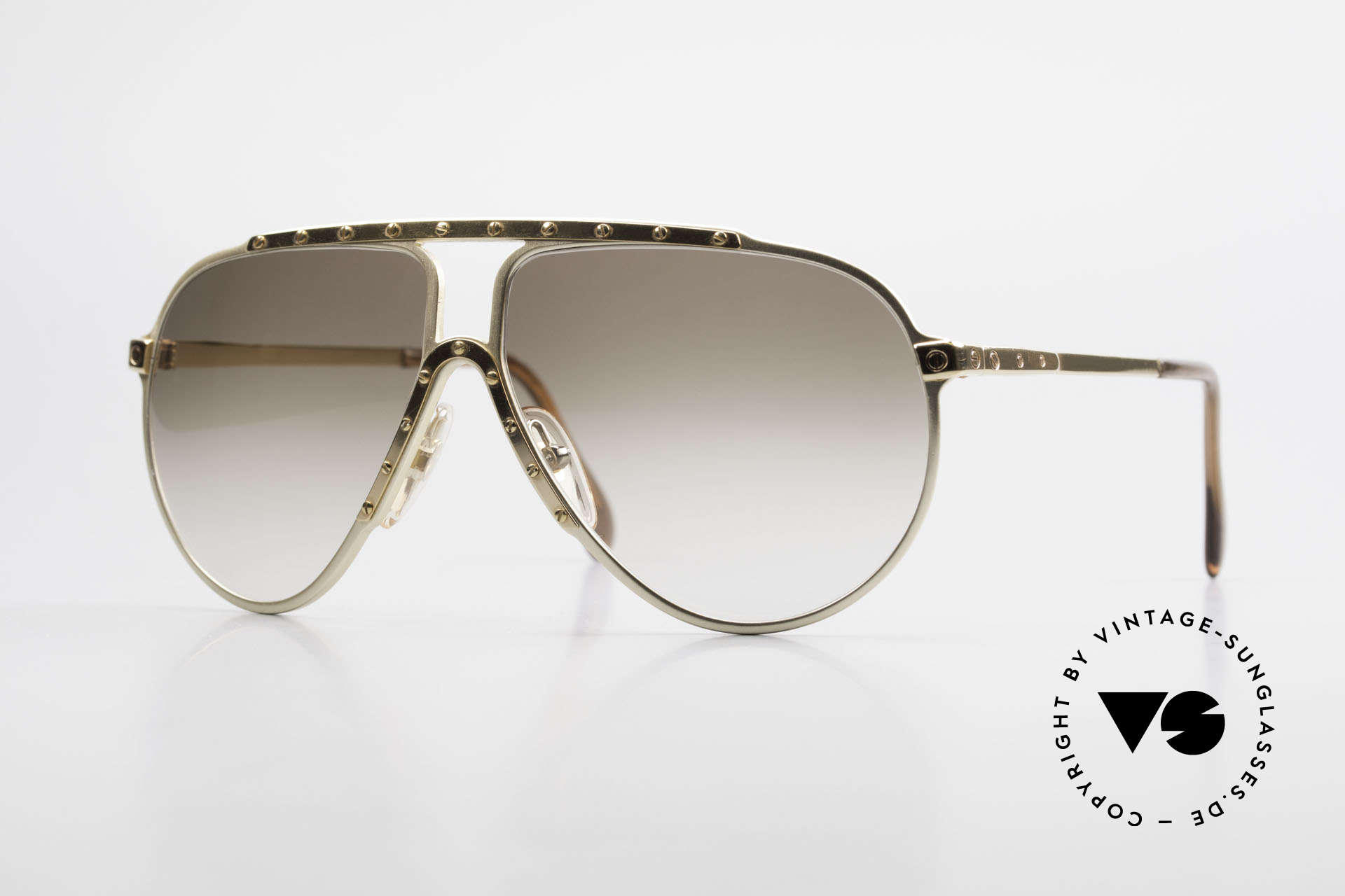 Alpina M1 Limited Edition 80er Jahre, 80er Alpina M1 Sonnenbrille in der 60/12 Größe, Passend für Herren und Damen