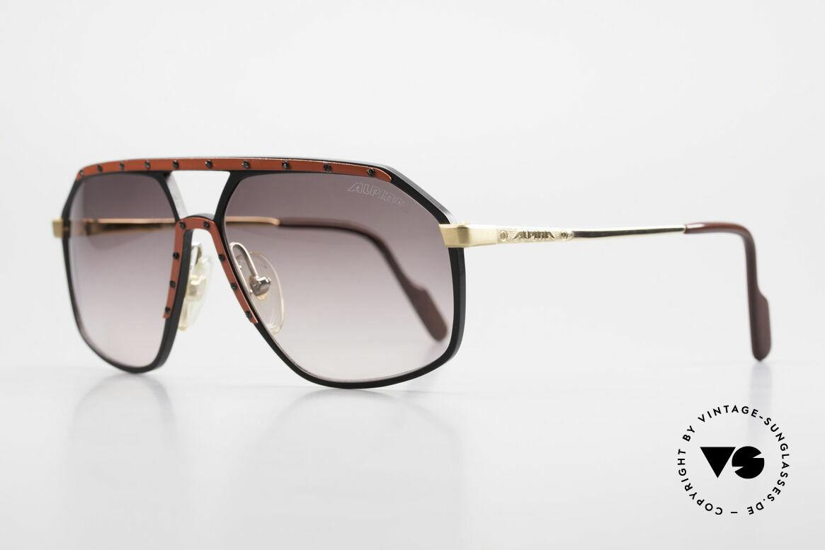 Alpina M6 Rare Vintage 80er Sonnenbrille, damals handgefertigt in verschiedenen Variationen, Passend für Herren und Damen