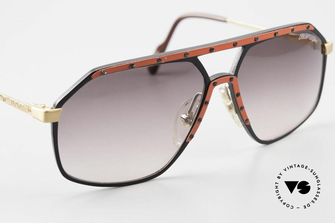 Alpina M6 Rare Vintage 80er Sonnenbrille, ungetragen (Lieferung in einem Etui von BVLGARI), Passend für Herren und Damen