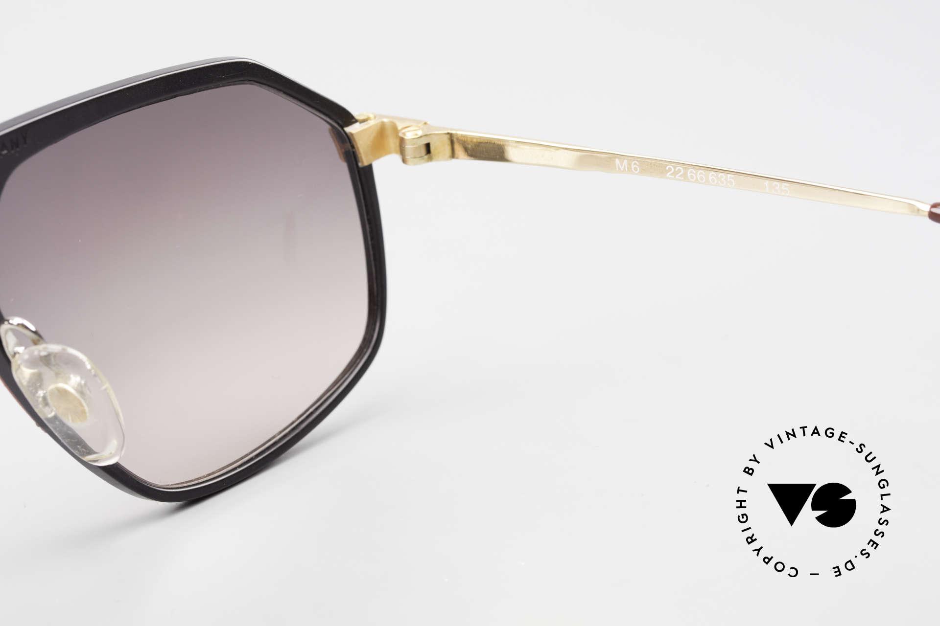 Alpina M6 Rare Vintage 80er Sonnenbrille, Größe: medium, Passend für Herren und Damen