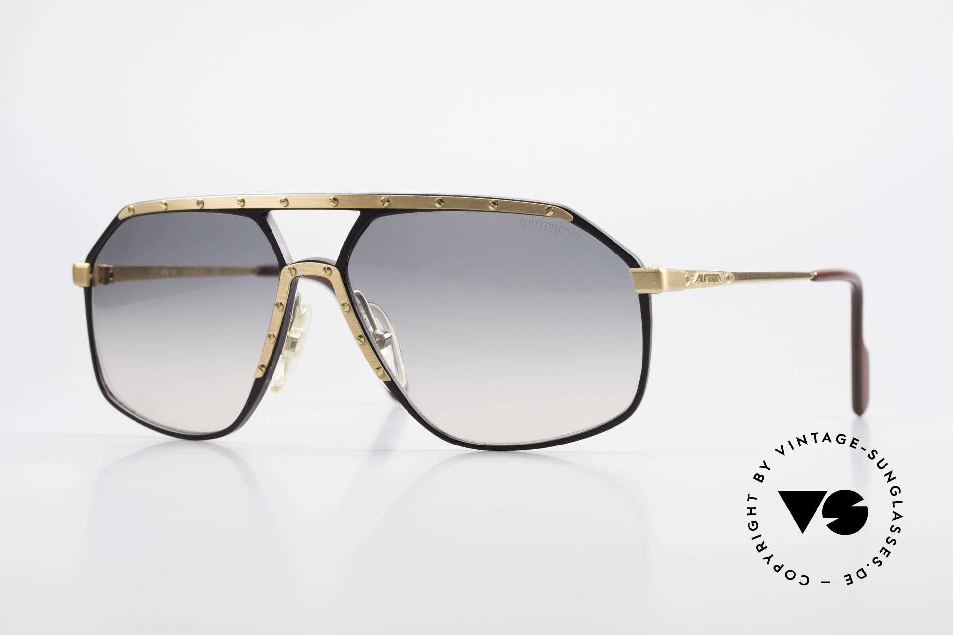 Alpina M6 True Vintage Sonnenbrille 80er, legendäre true vintage Sonnenbrille: ALPINA M6, Passend für Herren und Damen