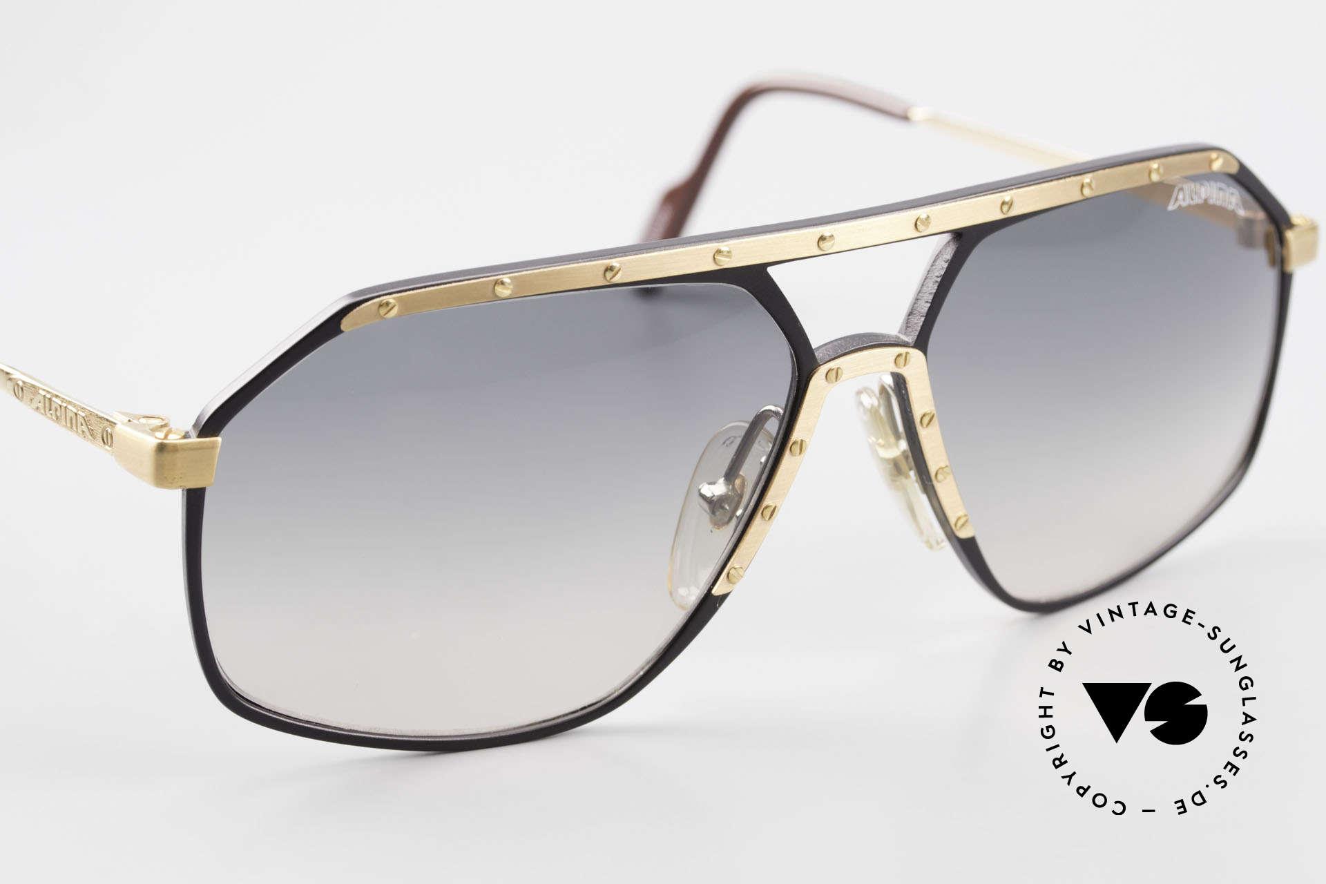 Alpina M6 True Vintage Sonnenbrille 80er, ungetragen (Lieferung in einem Etui von BVLGARI), Passend für Herren und Damen
