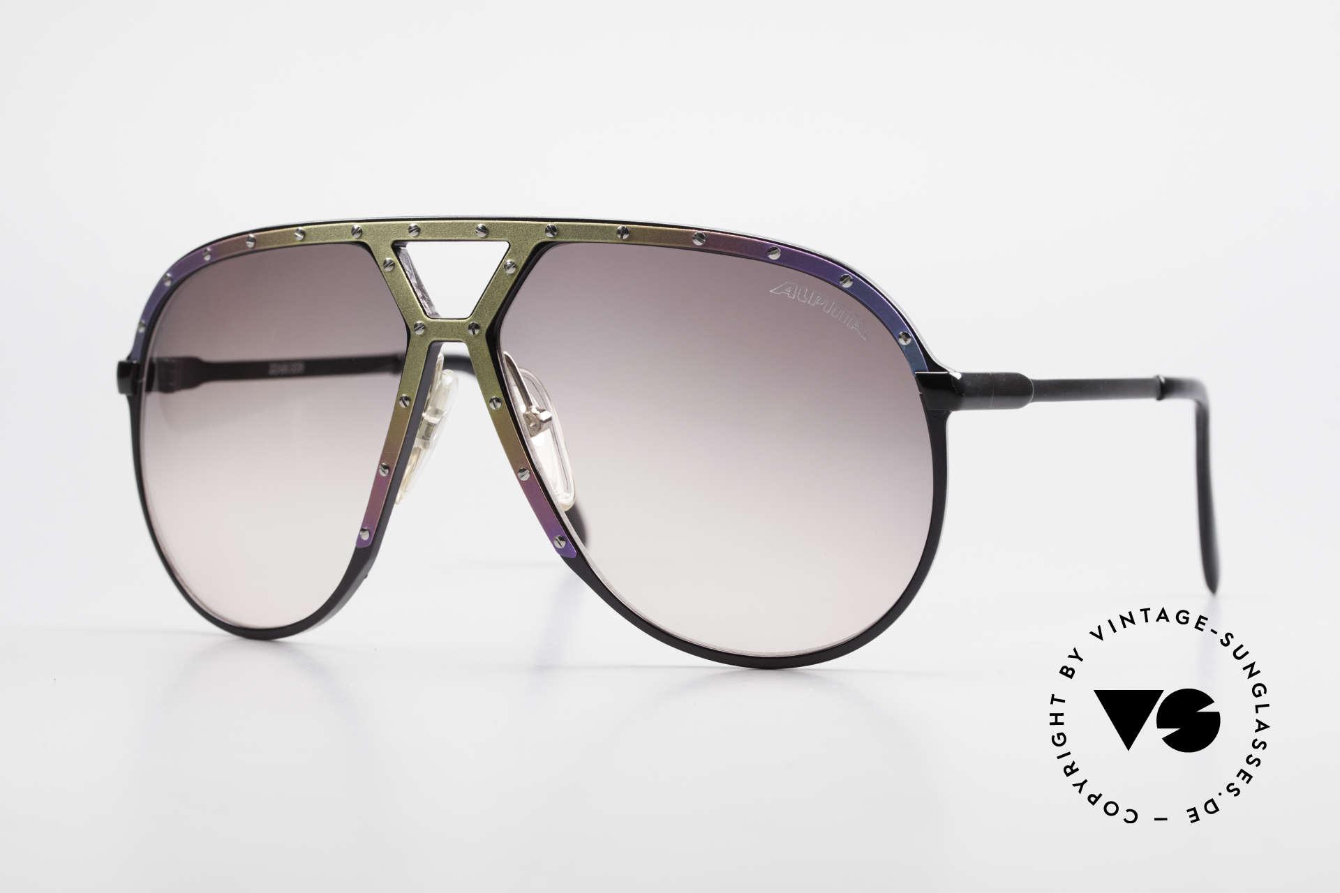 Alpina M1 Titanium 80er Limited Edition, vintage Alpina M1 Sonnenbrille, Titanium Edition, Passend für Herren