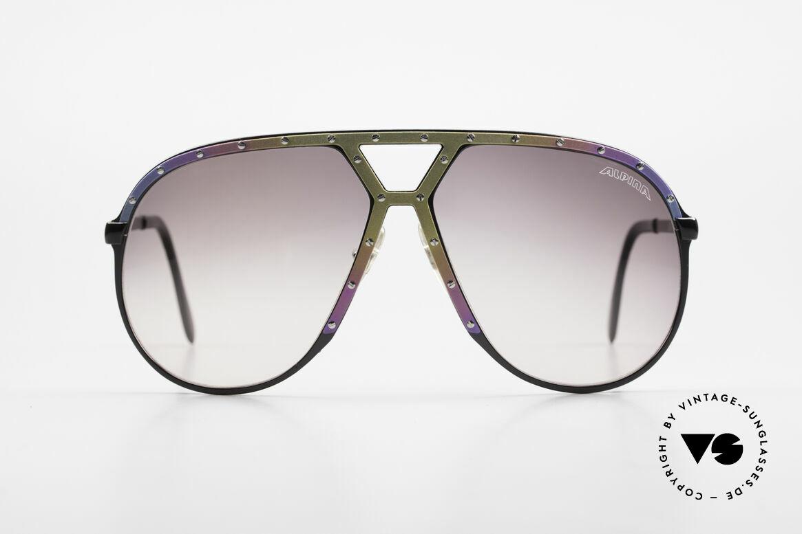 Alpina M1 Titanium 80er Limited Edition, ultra-seltene Brille von 1986 in Large Gr. 64-14, Passend für Herren