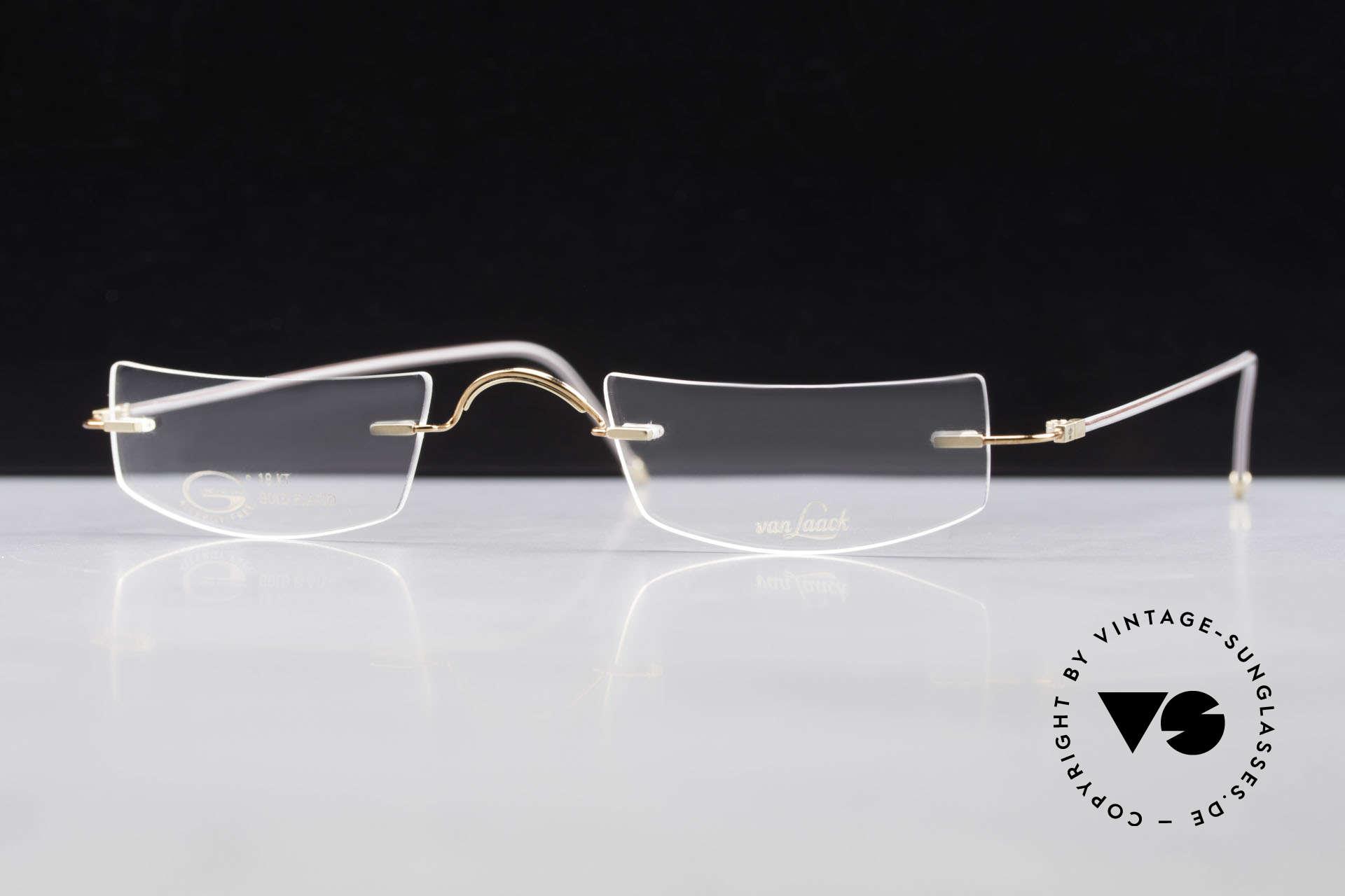 Van Laack L022 Minimalistische Lesebrille 90er, Größe: medium, Passend für Herren und Damen