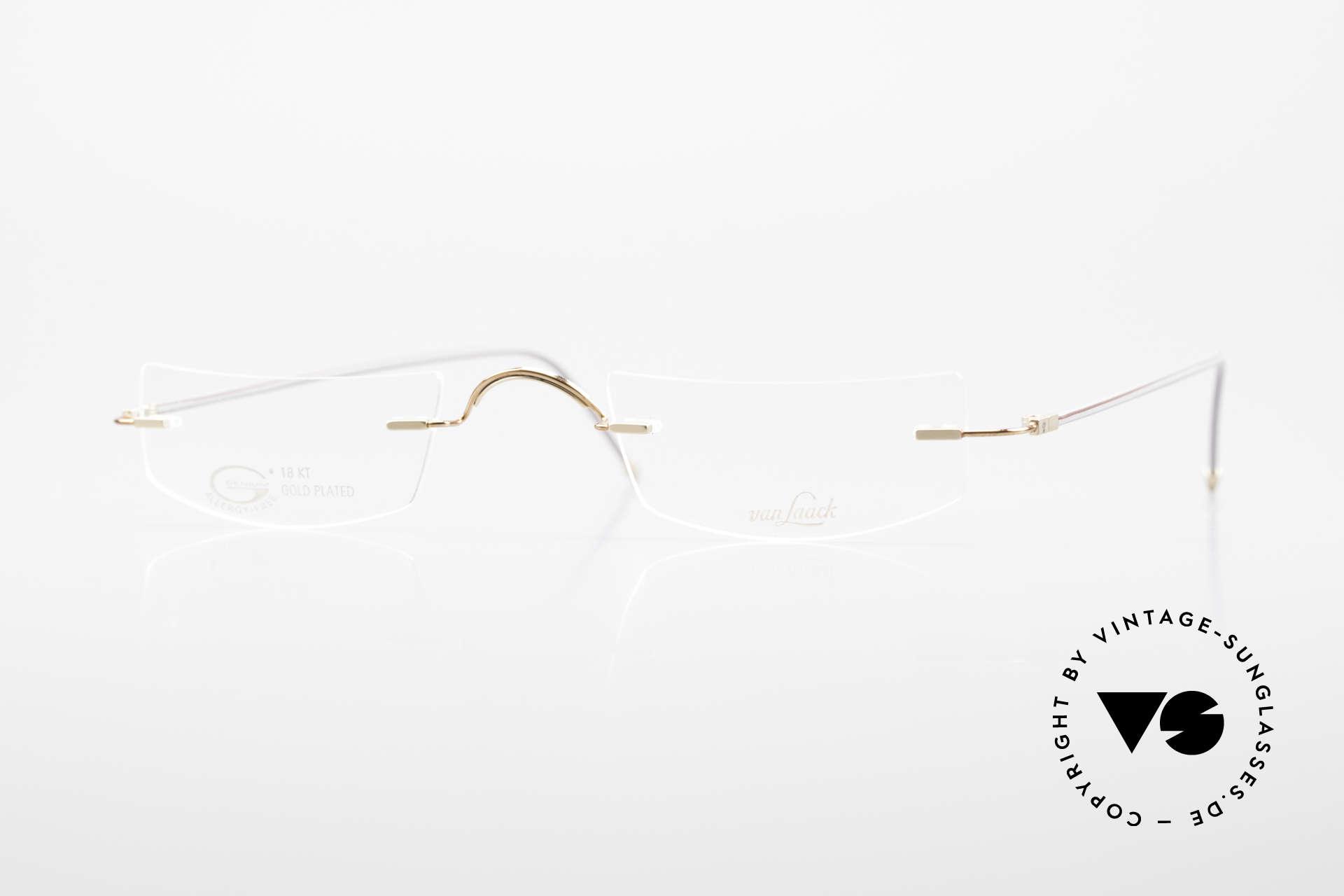 Van Laack L022 Minimalistische Lesebrille 90er, absolute Top-Qualität & mit vielen kleinen Details, Passend für Herren und Damen