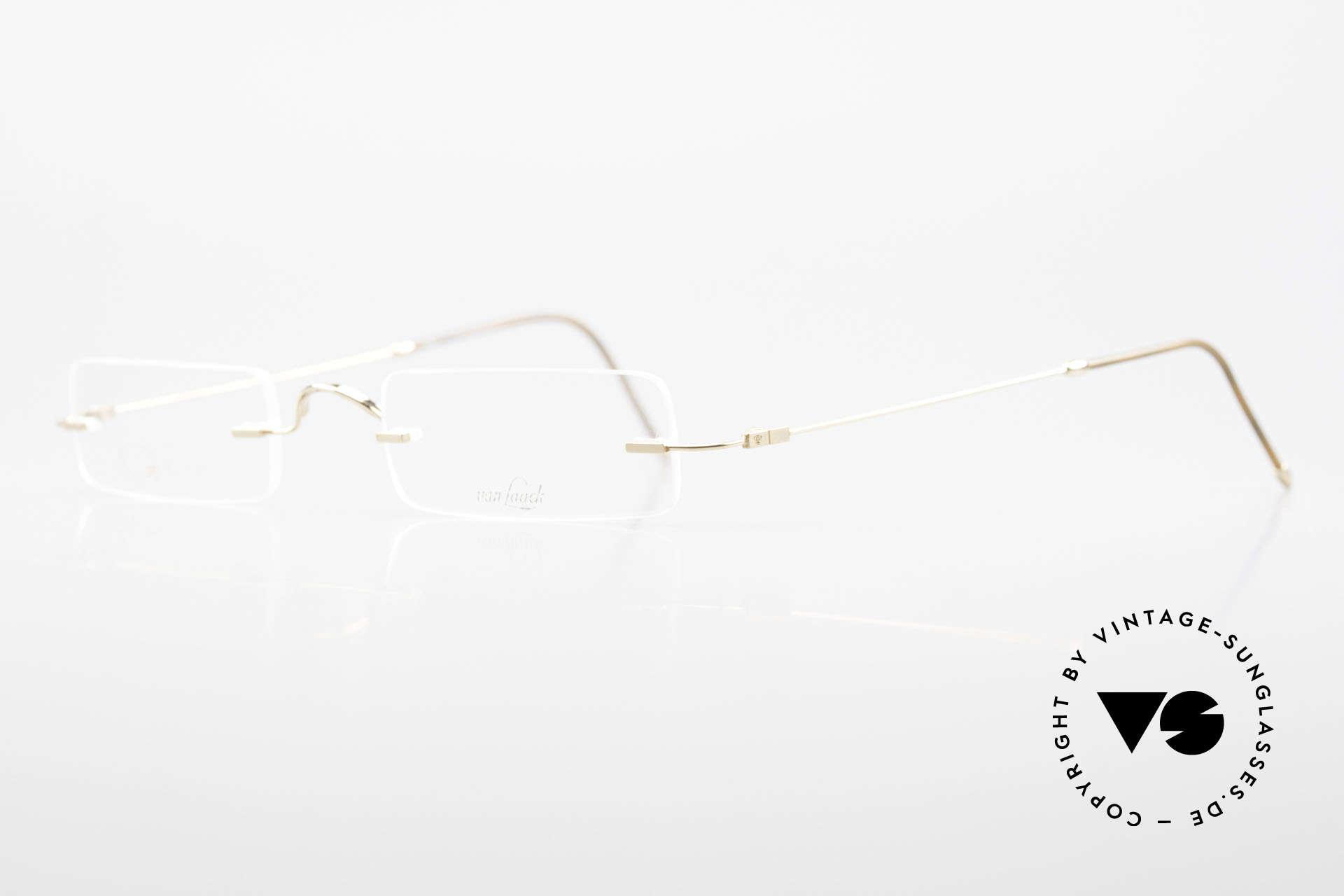 Van Laack L021 Minimalistische 90er Lesebrille, sehr angenehm zu tragen (8 Gramm leicht); vintage, Passend für Herren und Damen