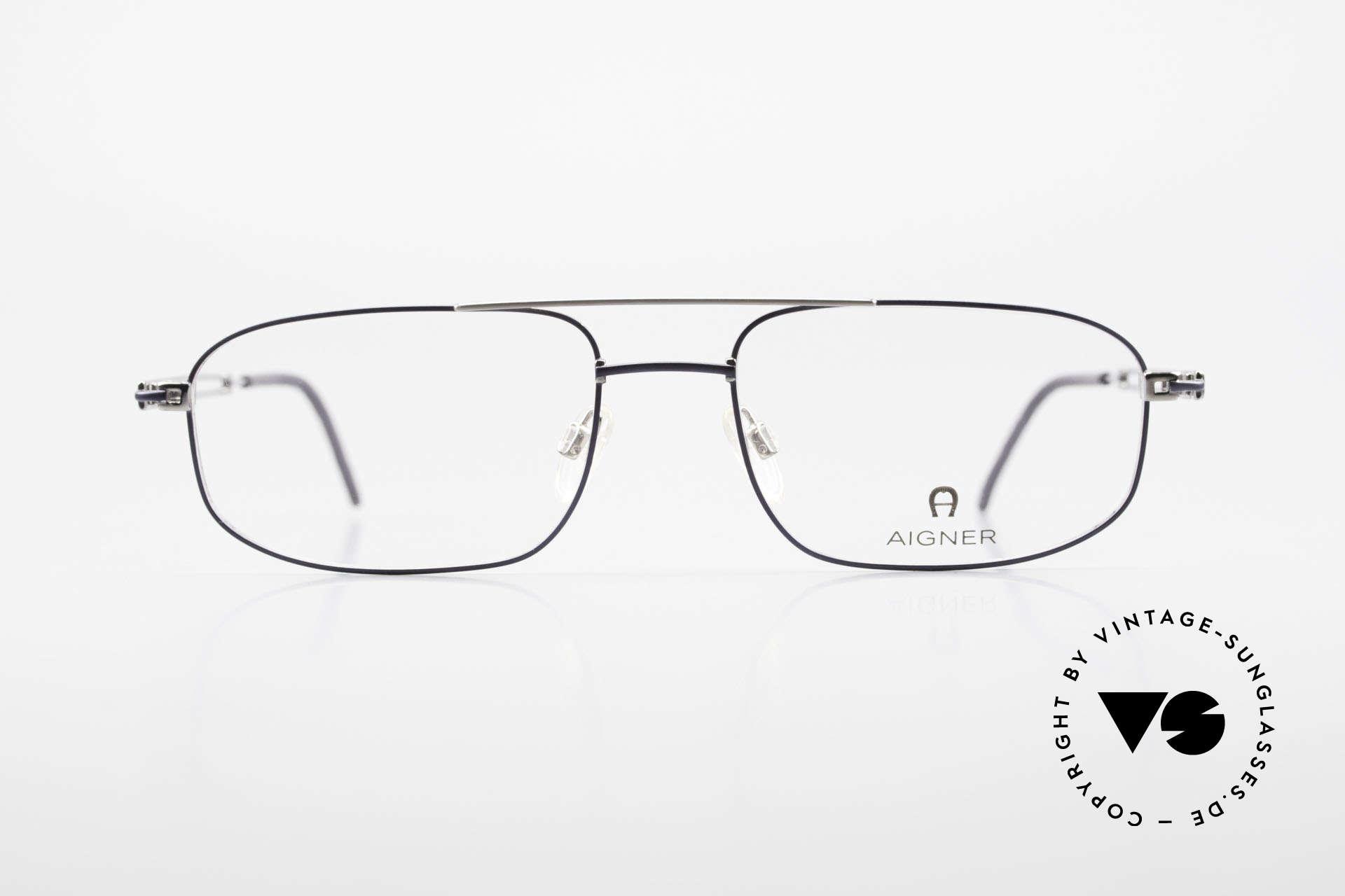 Aigner EA9111 90er Herrenfassung Metall, eine 90er Aigner Originalbrille in Metzler Kooperation, Passend für Herren