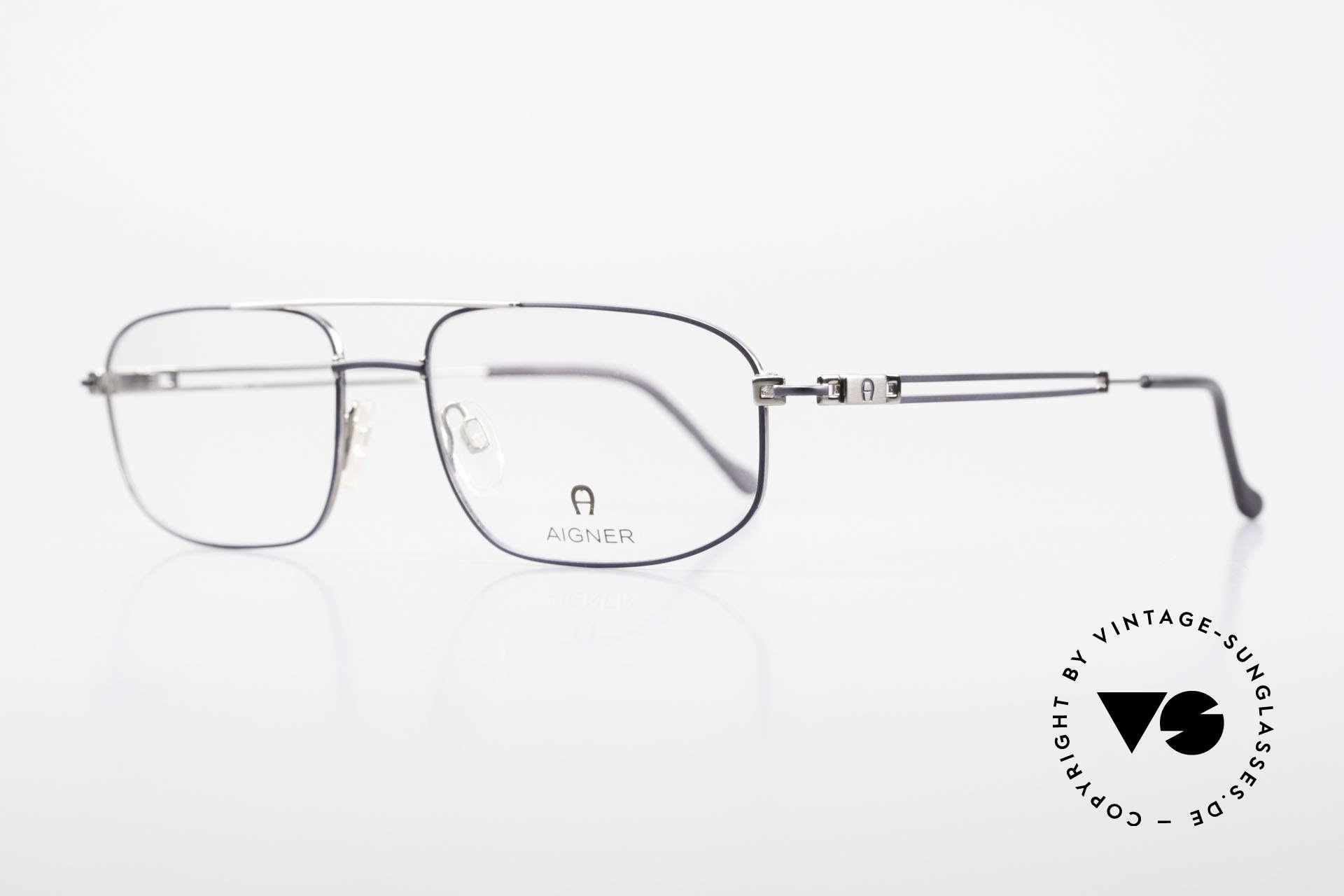 Aigner EA9111 90er Herrenfassung Metall, klassische 90er Herrenbrille, made in Germany Qualität, Passend für Herren