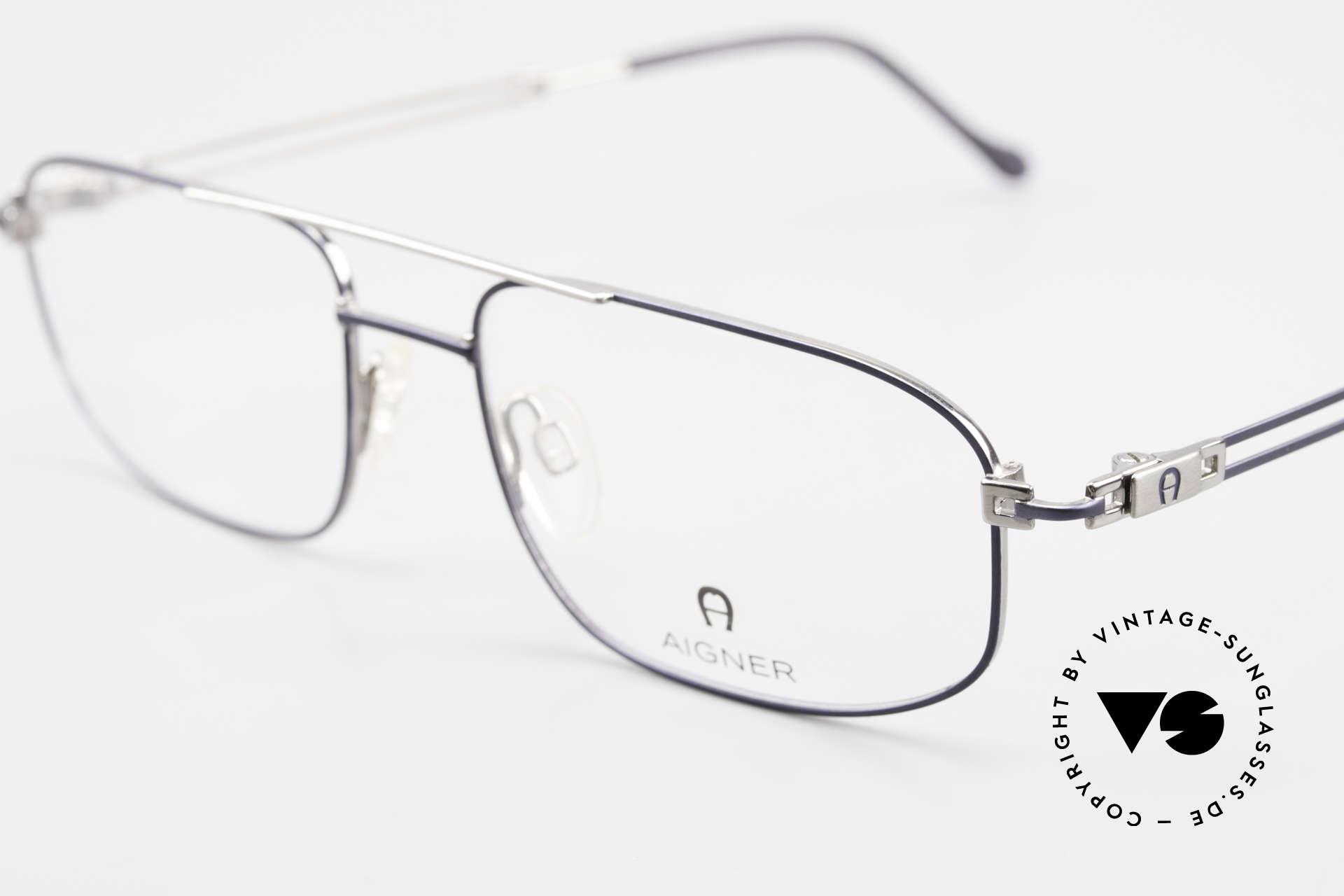 Aigner EA9111 90er Herrenfassung Metall, unbenutzte Lagerware (wie alle unsere AIGNER Brillen), Passend für Herren
