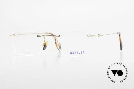 Metzler 1484 Randlose Vintage Brille Titan Details