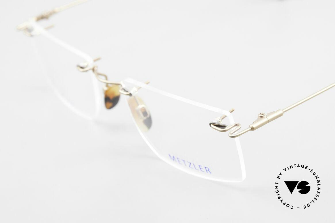 Metzler 1484 Randlose Vintage Brille Titan, unbenutzte Lagerware (wie all unsere randlosen Brillen), Passend für Herren