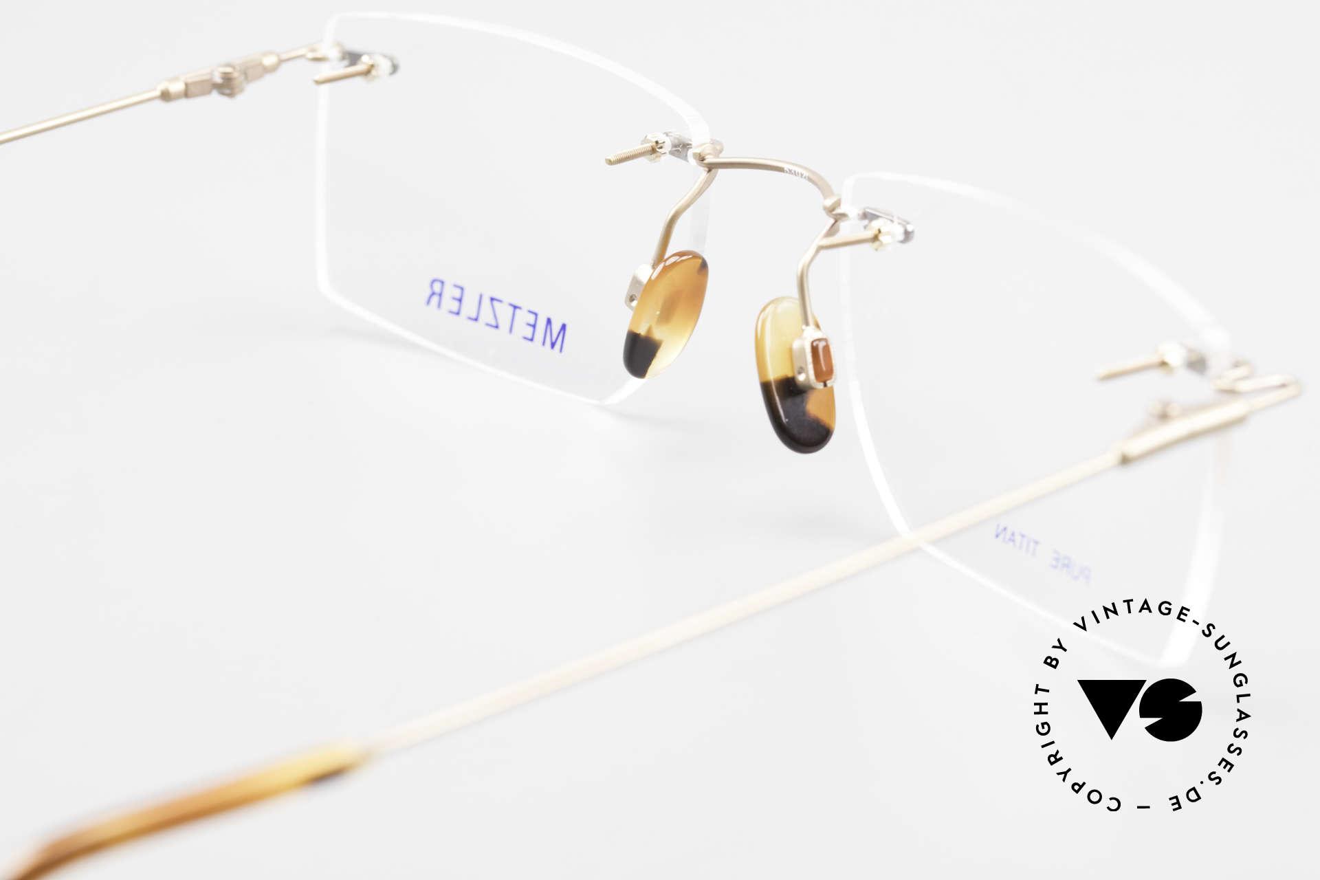 Metzler 1484 Randlose Vintage Brille Titan, Fassung ist für optische Gläser / Sonnengläser gemacht, Passend für Herren