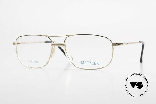 Metzler 1714 Klassische Herrenbrille Titan Details