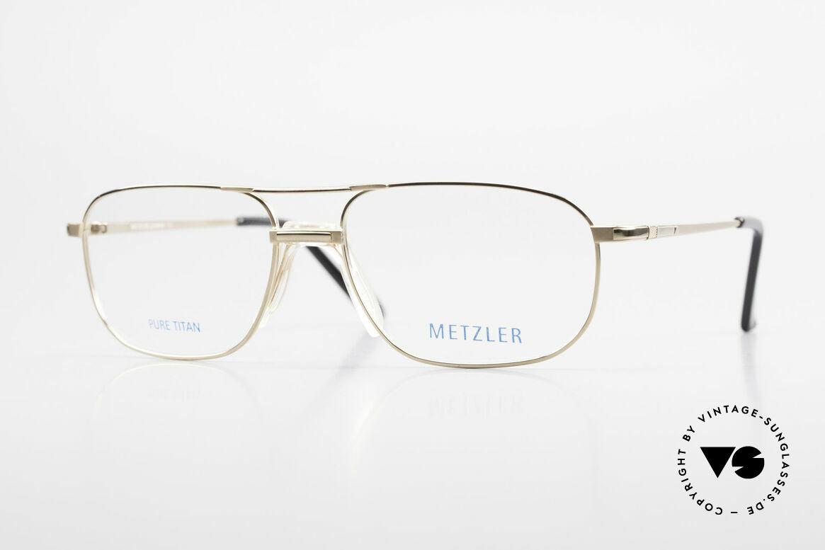 Metzler 1714 Klassische Herrenbrille Titan, Metzler Brille 1714, col. 130, Größe 56-17, 140, Passend für Herren