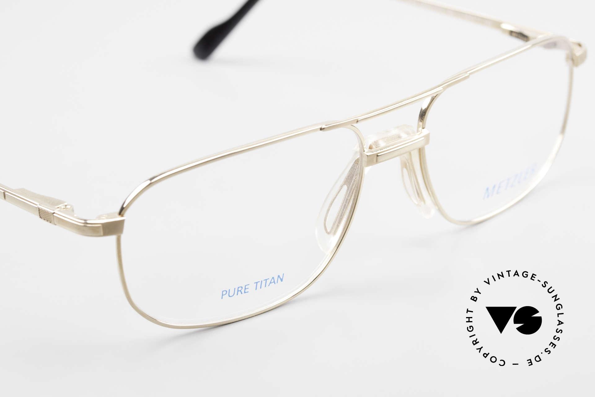 Metzler 1714 Klassische Herrenbrille Titan, KEINE RETRObrille, sondern ein altes ORIGINAL, Passend für Herren