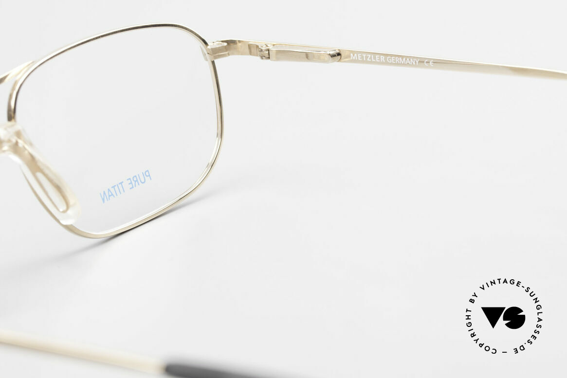 Metzler 1714 Klassische Herrenbrille Titan, Größe: large, Passend für Herren