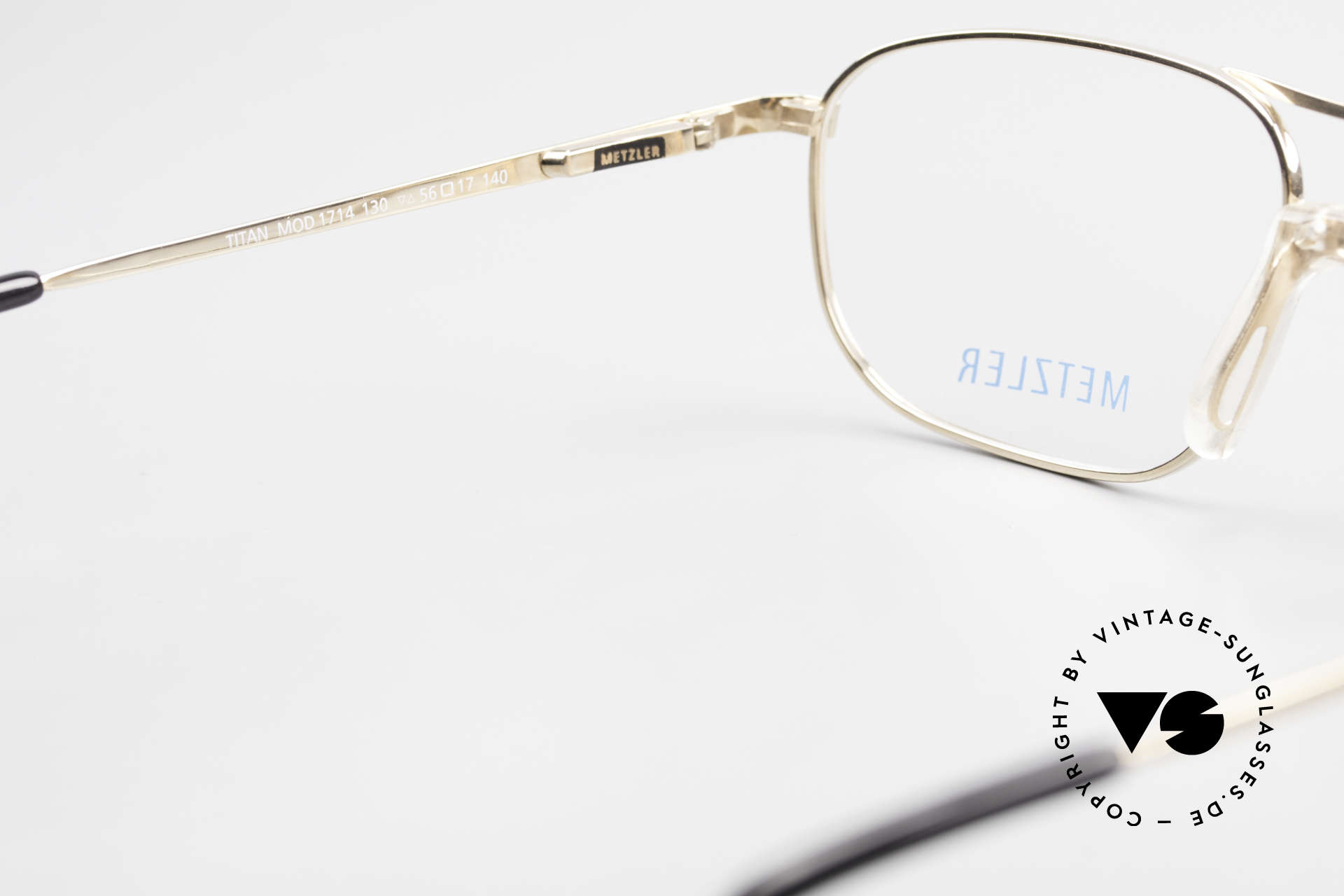 Metzler 1714 Klassische Herrenbrille Titan, Fassung ist beliebig verglasbar (optisch / Sonne), Passend für Herren