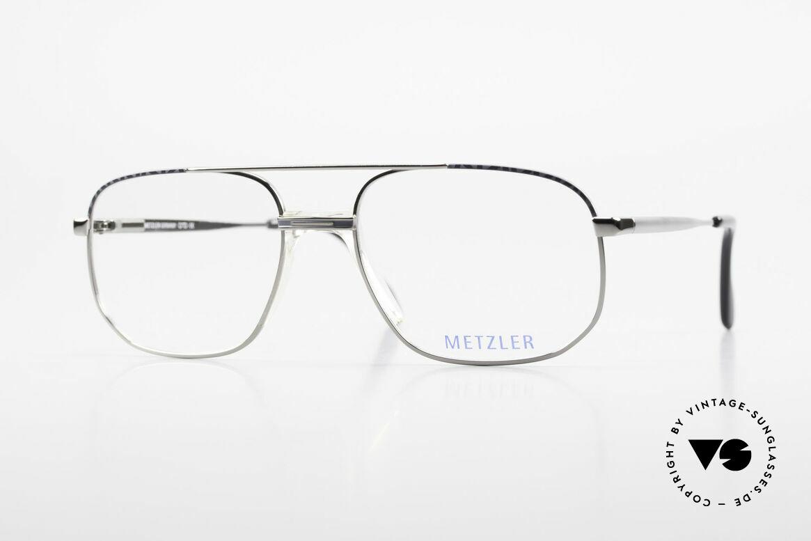Metzler 7538 90er Metallbrille Mit Sattelsteg, Metzler Brille 7538, col. 519, Größe 56-18, 140, Passend für Herren