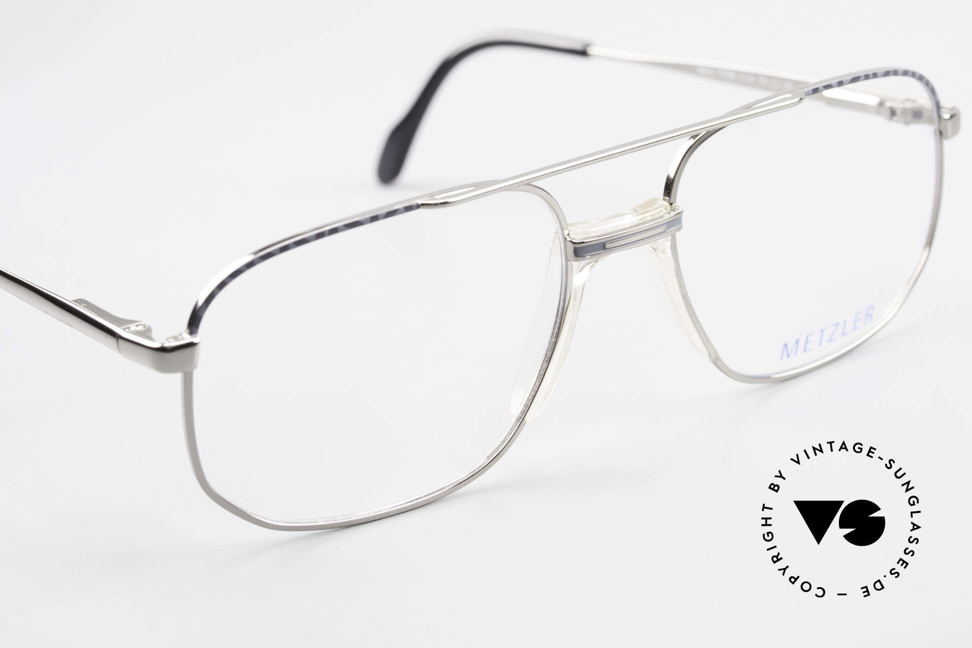 Metzler 7538 90er Metallbrille Mit Sattelsteg, KEINE RETRObrille, sondern ein altes ORIGINAL!, Passend für Herren