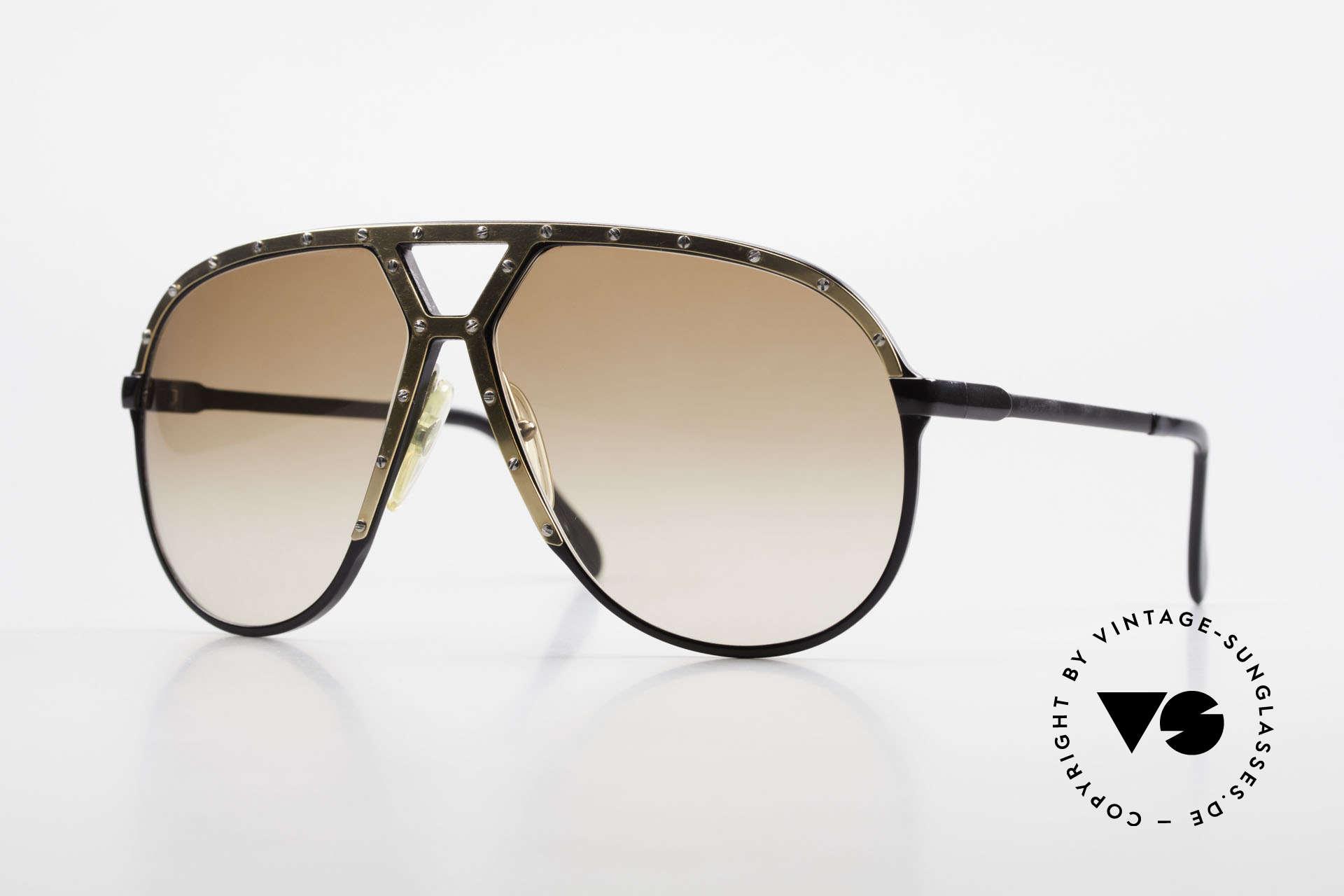 Alpina M1 80er Brille Keine Retrobrille, sehr seltene Alpina M1 80er Aviator Sonnenbrille, Passend für Herren