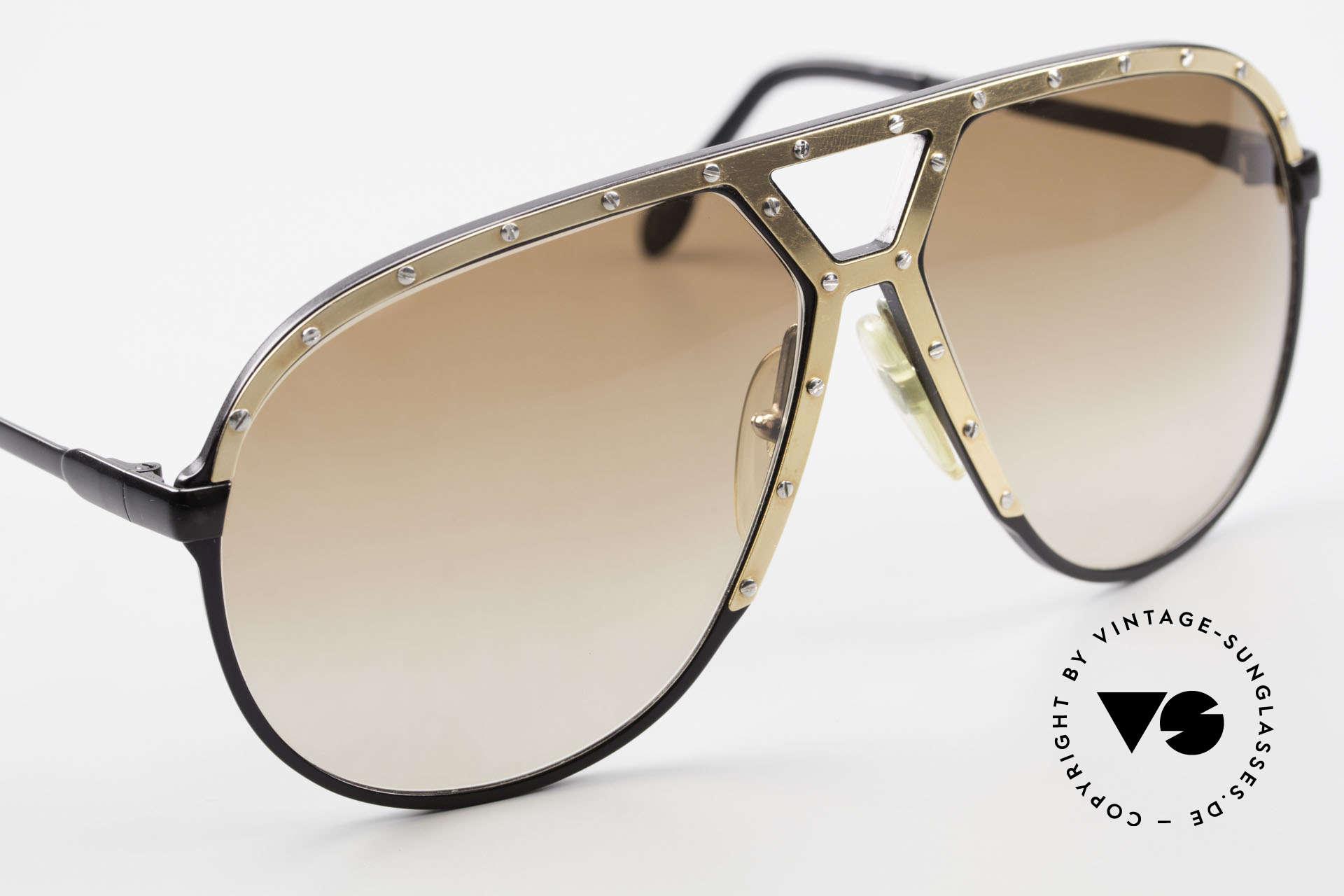 Alpina M1 80er Brille Keine Retrobrille, ungetragenes Sammlerstück (inkl. BVLGARI Etui), Passend für Herren