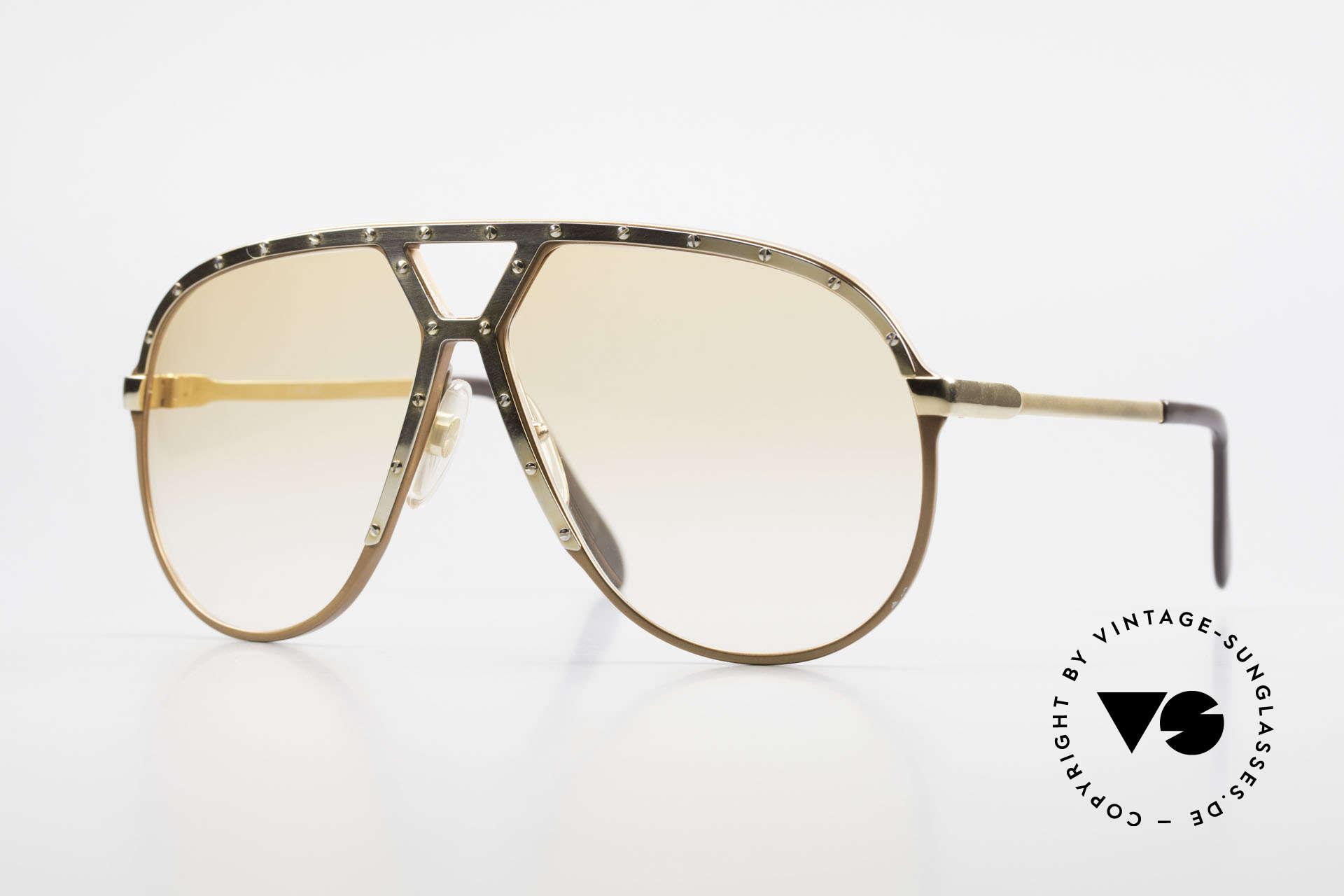 Alpina M1 Rare 80s Vintage Brille Orange, ultra seltene ALPINA M1 Sonnenbrille von 1986, Passend für Herren