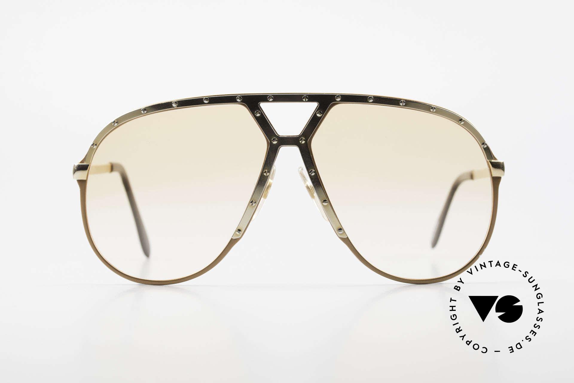 Alpina M1 Rare 80s Vintage Brille Orange, LIMITED EDITION in Pfirsich-Metallic / GOLD, Passend für Herren