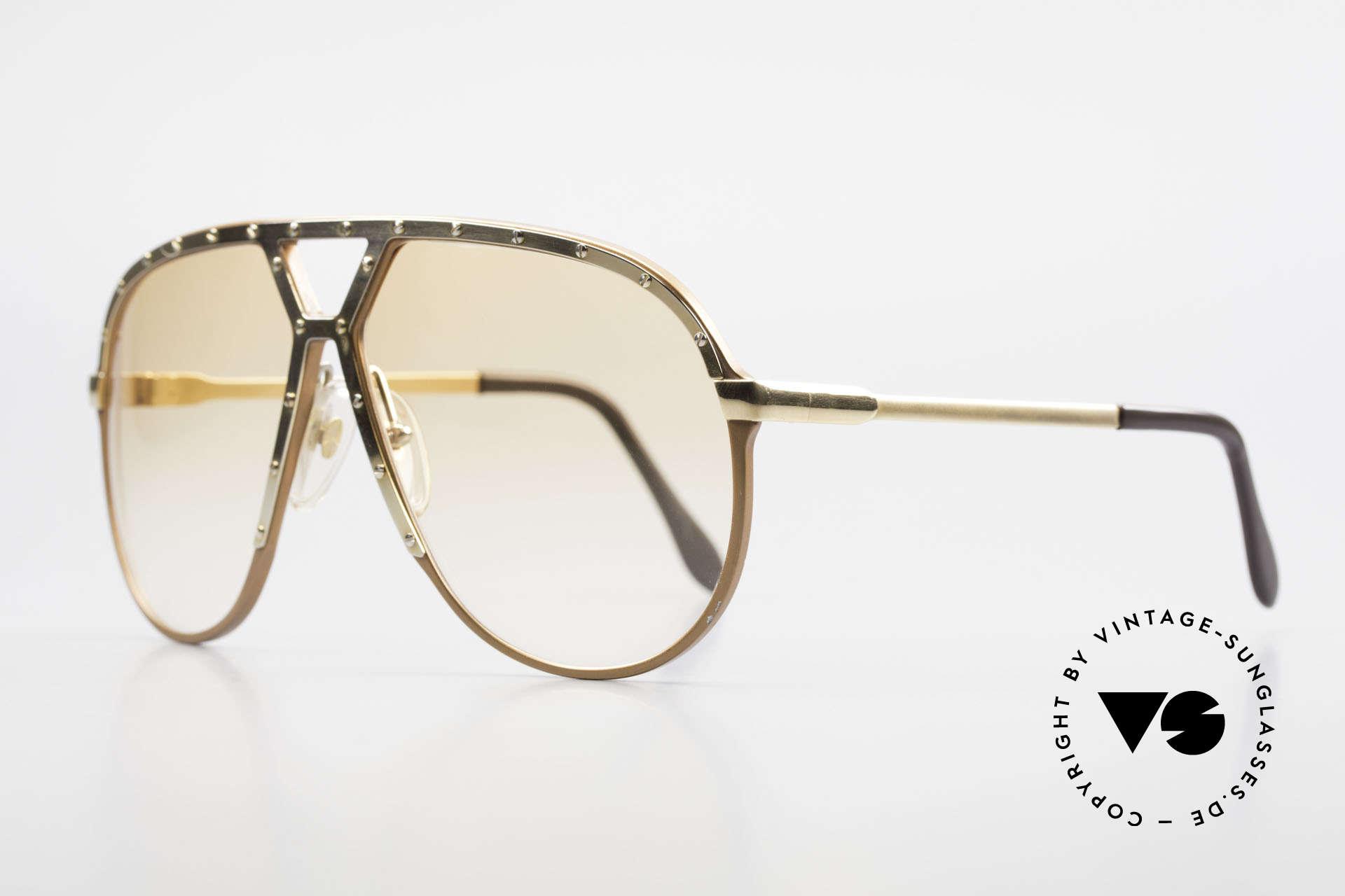 Alpina M1 Rare 80s Vintage Brille Orange, Gläser in orange-Verlauf (auch abends tragbar), Passend für Herren
