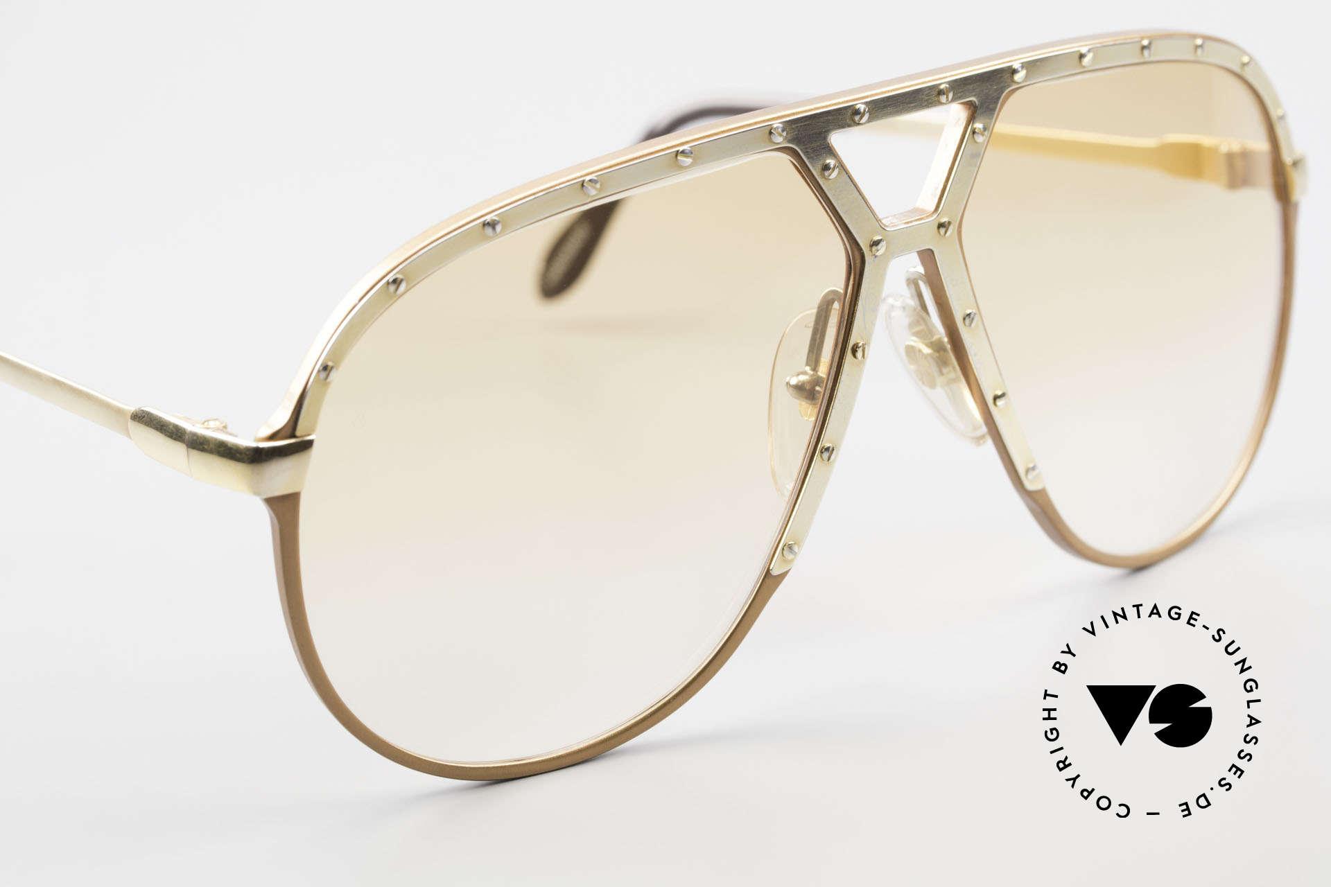 Alpina M1 Rare 80s Vintage Brille Orange, ungetragenes Sammlerstück (inkl. BVLGARI Etui), Passend für Herren
