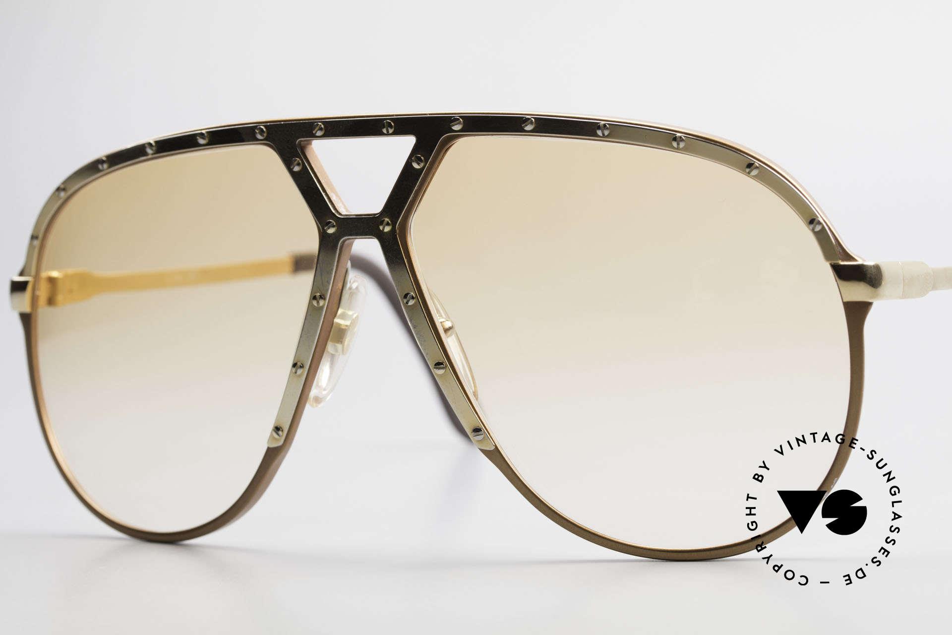 Alpina M1 Rare 80s Vintage Brille Orange, Fassung hat kleine Kratzer (Lagerung), siehe Foto, Passend für Herren