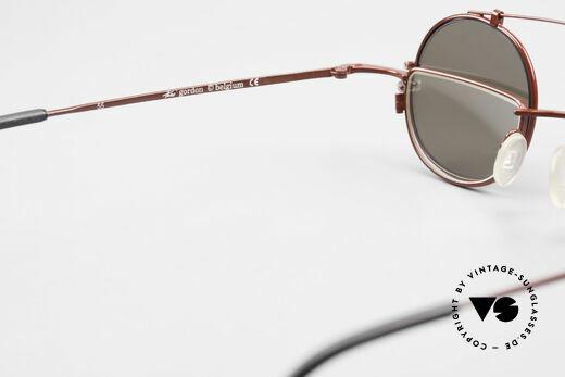 Theo Belgium Gordon Lesebrille Mit Sonnen-Clip, KEINE RETRObrille, sondern ein 20 Jahres altes Original, Passend für Herren und Damen