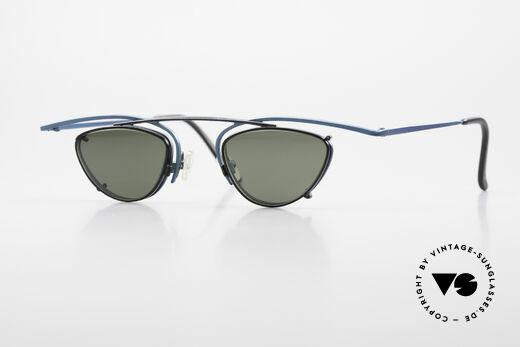 Theo Belgium Rhum Designerbrille Mit Sonnen-Clip Details