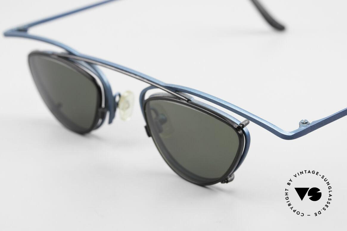 Theo Belgium Rhum Designerbrille Mit Sonnen-Clip, Theo Kreationen sind anders; entgegen dem Mainstream, Passend für Herren und Damen