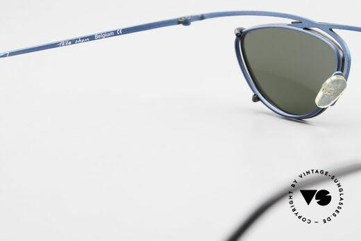 Theo Belgium Rhum Designerbrille Mit Sonnen-Clip, KEINE RETRObrille, sondern ein 25 Jahres altes Original, Passend für Herren und Damen