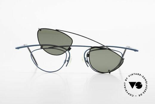 Theo Belgium Rhum Designerbrille Mit Sonnen-Clip, Größe: large, Passend für Herren und Damen