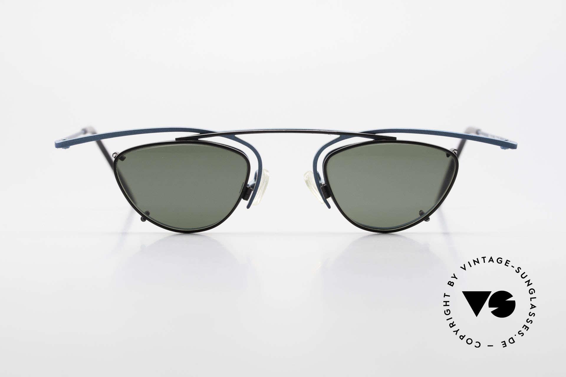 Theo Belgium Rhum Designerbrille Mit Sonnen-Clip, sehr markante Brille mit Sonnen-Clip; 100% UV Schutz, Passend für Herren und Damen