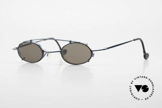 Theo Belgium Peter Ovale brille Mit Sonnen-Clip Details