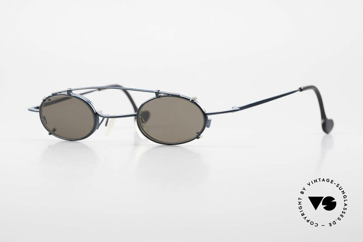 Theo Belgium Peter Ovale brille Mit Sonnen-Clip, klassisch ovale vintage THEO Belgium Designer-Brille, Passend für Herren und Damen