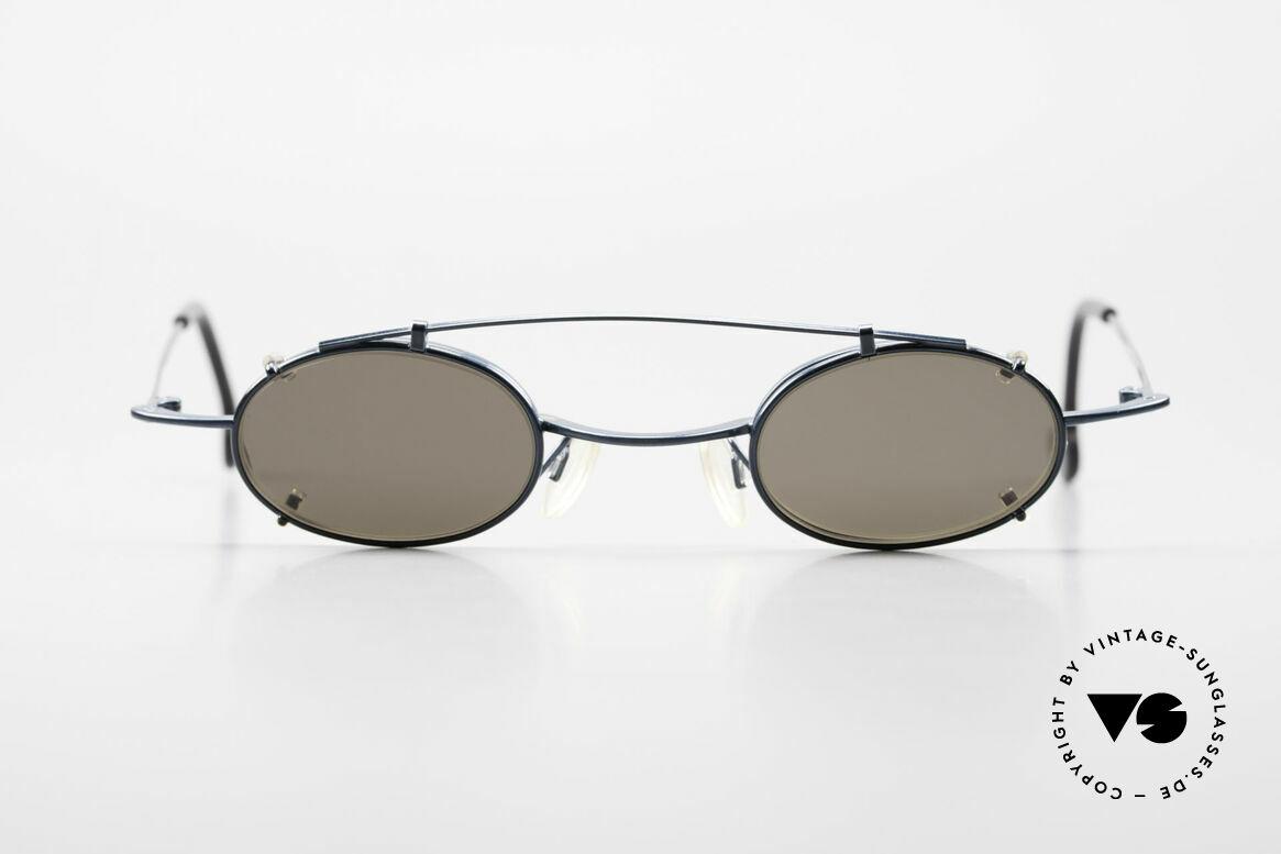 Theo Belgium Peter Ovale brille Mit Sonnen-Clip, Unisex-Brillenmodell mit Sonnen-Clip; 100% UV Schutz, Passend für Herren und Damen