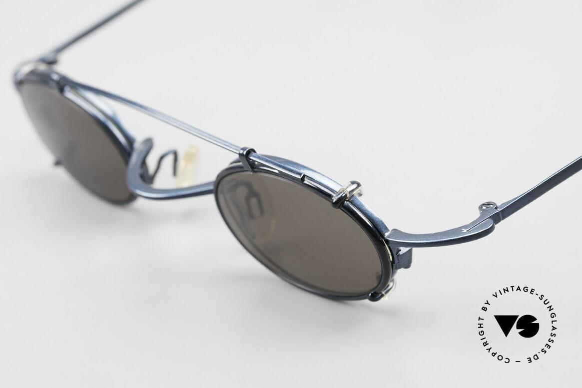 Theo Belgium Peter Ovale brille Mit Sonnen-Clip, Theo Kreationen sind anders; entgegen dem Mainstream, Passend für Herren und Damen