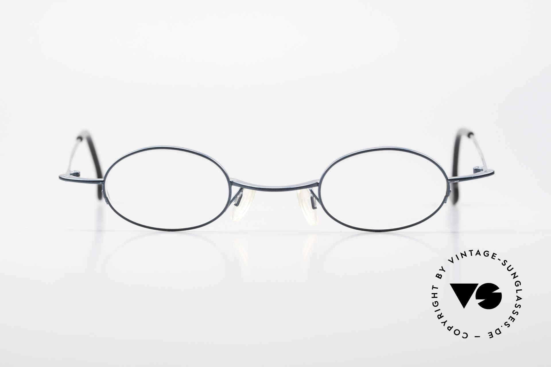 Theo Belgium Peter Ovale brille Mit Sonnen-Clip, Größe: medium, Passend für Herren und Damen