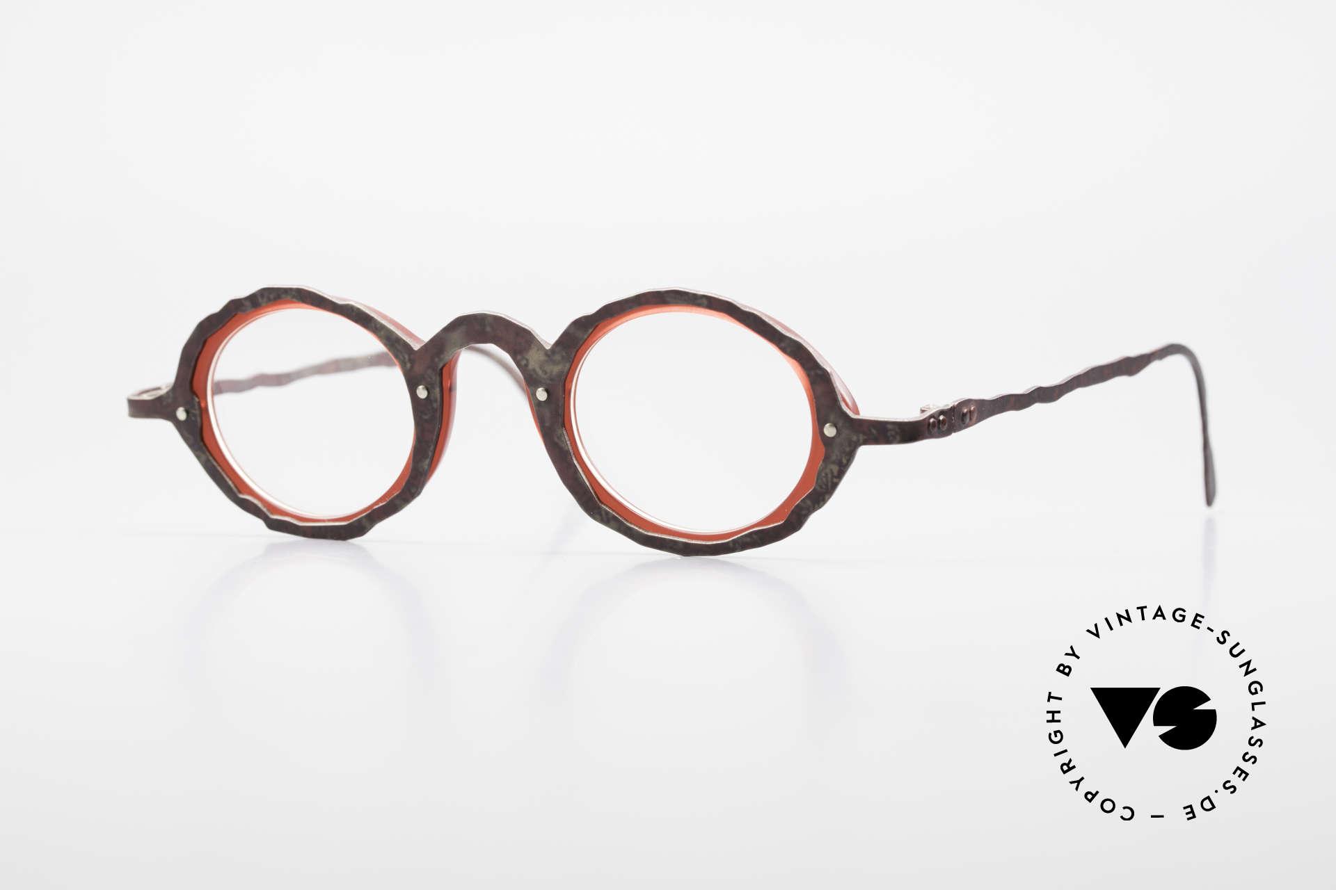 Theo Belgium Eye-Witness GG Avantgarde Brille 90er Jahre, vintage Theo Brille der Eye-Witness (Augenzeuge) Serie, Passend für Herren und Damen